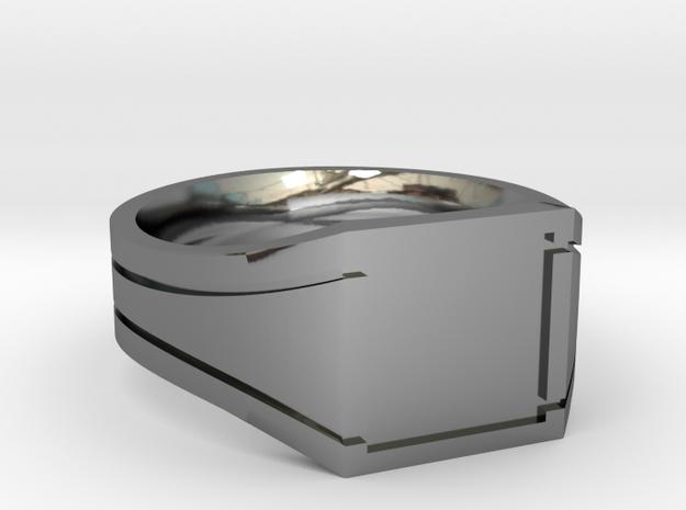 Custom embossed signet Ring - Chevaliere diam 63 in Premium Silver