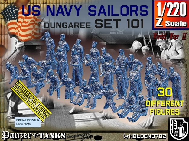 1/220 USN Dungaree Set 101 in Frosted Extreme Detail