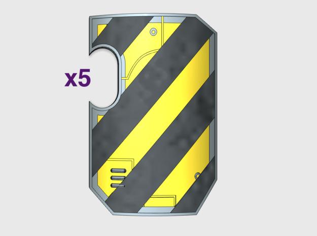 5x Hazard Stripes - Marine Boarding Shields w/Hand in Frosted Ultra Detail