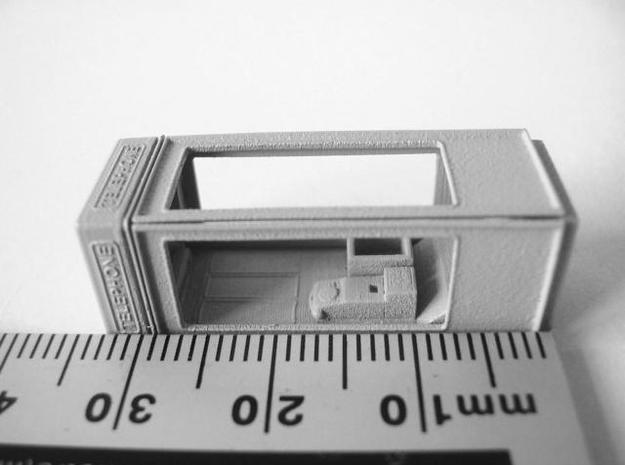 K8 Telephone Box - OO (1:76) scale 3d printed Photo - primed, dry assemled