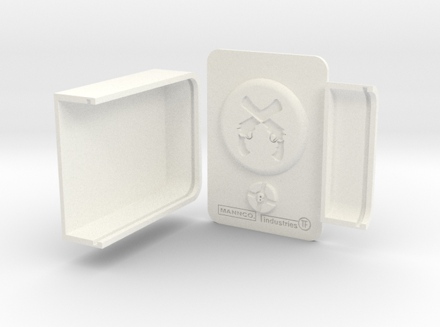 Teamfortress2 Dueling badge in White Strong & Flexible Polished