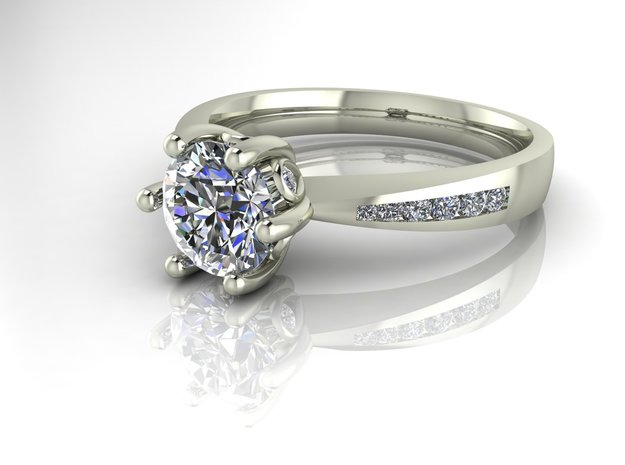 Classic tulip Solitaire NO STONES SUPPLIED in Fine Detail Polished Silver