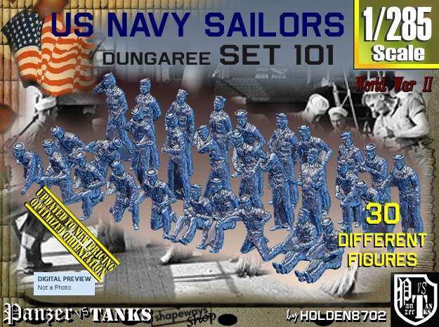 1/285 USN Dungaree Set 101 in Frosted Extreme Detail