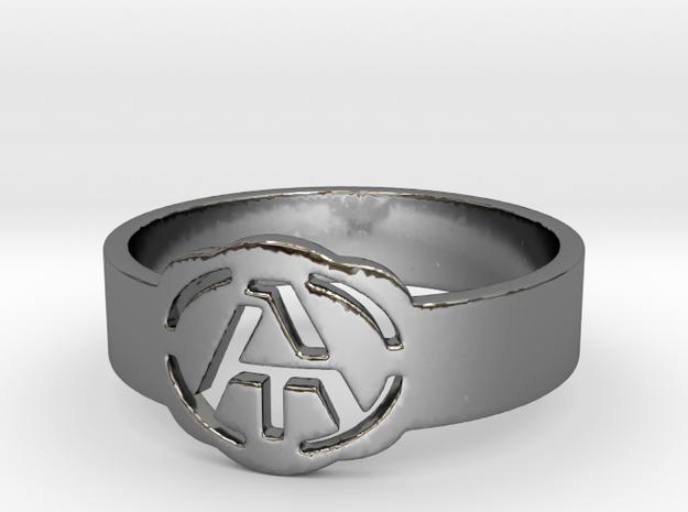 Atheism ring, unique ring, Atheist Jewelry, Atheis in Premium Silver