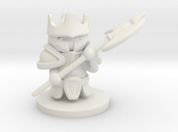 Heavy Knight in White Natural Versatile Plastic