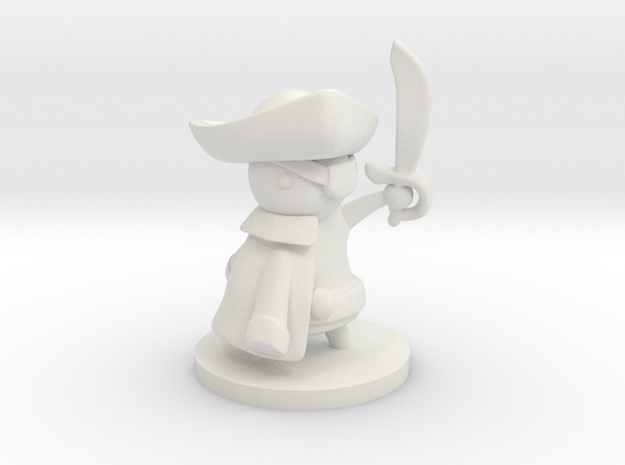 Swashbuckler in White Natural Versatile Plastic