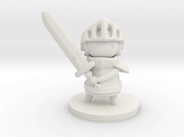 Knight in White Natural Versatile Plastic