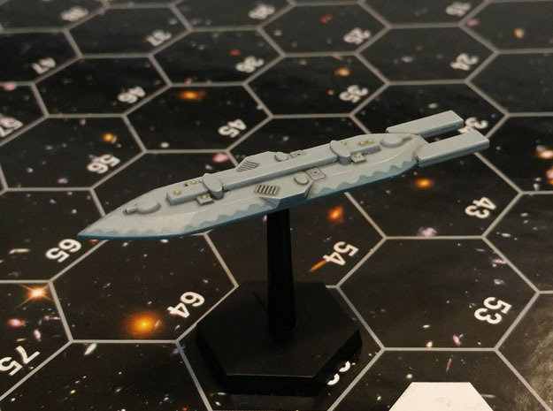 3788 Scale Frax War Destroyer (DW) MGL in White Natural Versatile Plastic