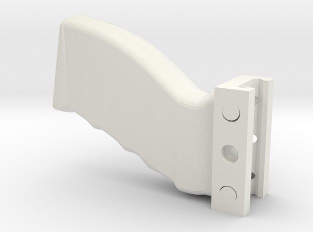 Heavy-Duty Weaver/Picatinny Foregrip in White Strong & Flexible