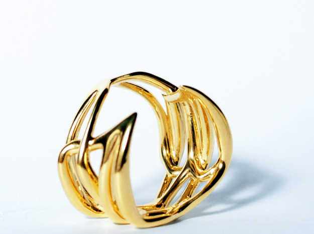 Polyhymnia ring in 14k Gold Plated Brass