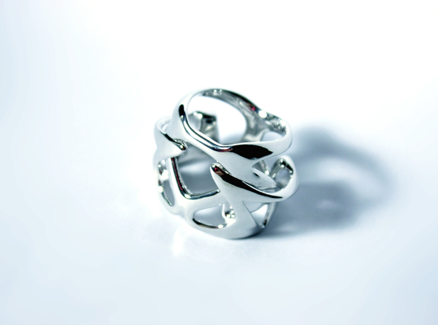 Thalia ring in Rhodium Plated Brass: 12 / 66.5