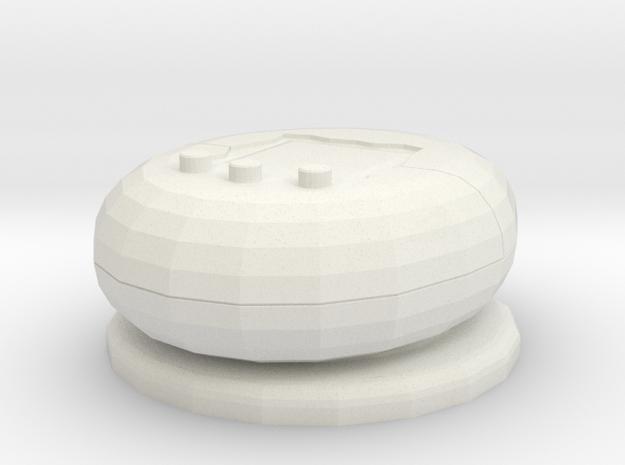 VirtualPet Gamepiece in White Natural Versatile Plastic