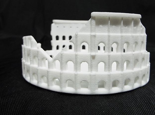 Ancient Colloseum in White Natural Versatile Plastic: Medium