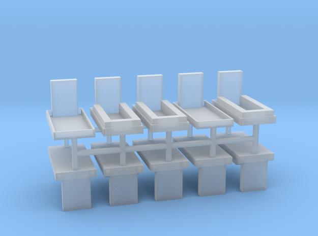 Gräber Set2 10erSet - 1:76 in Smooth Fine Detail Plastic