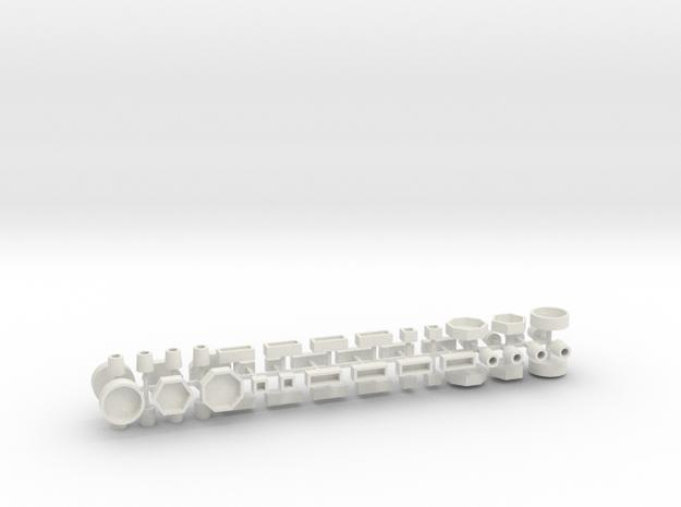 Stadtmöbelset 2 DDR 52 Teile 1:72 in White Natural Versatile Plastic
