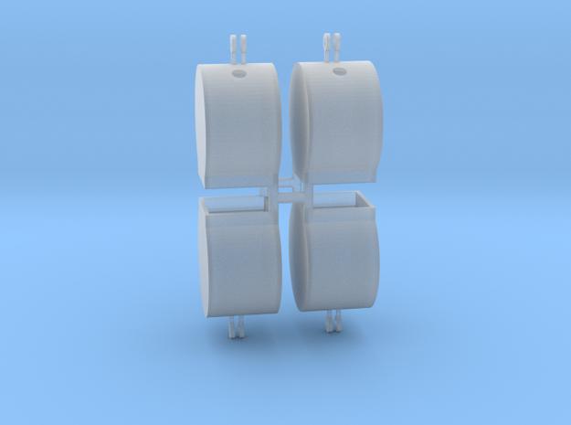 Altglascontainer Trommel 4erSet 1:87 H0 in Smooth Fine Detail Plastic
