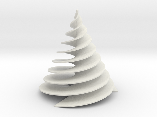 Spiral3Face-1 in White Natural Versatile Plastic