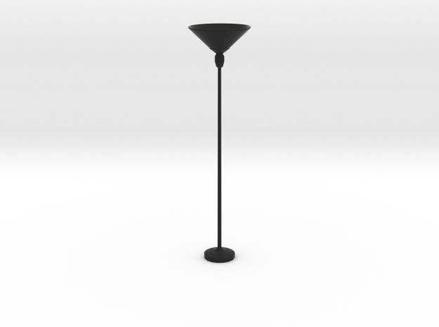 'Retro Living' Floor Lamp 1:12 Dollhouse in Black Strong & Flexible