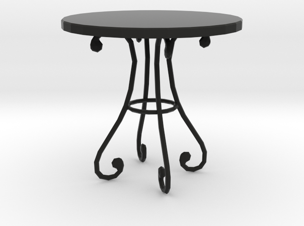 'Finer Fare' Table 1:12 Dollhouse in Black Strong & Flexible