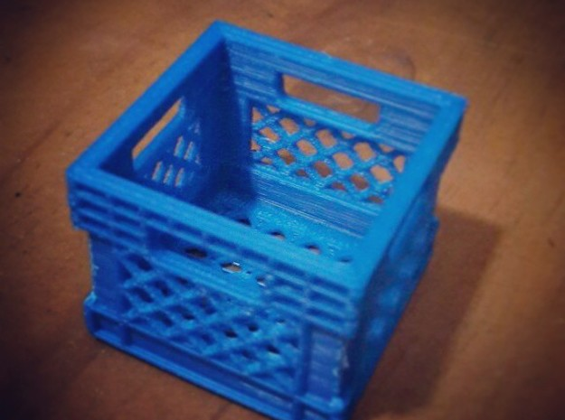 Milk Crate 1/18 in Red Strong & Flexible Polished