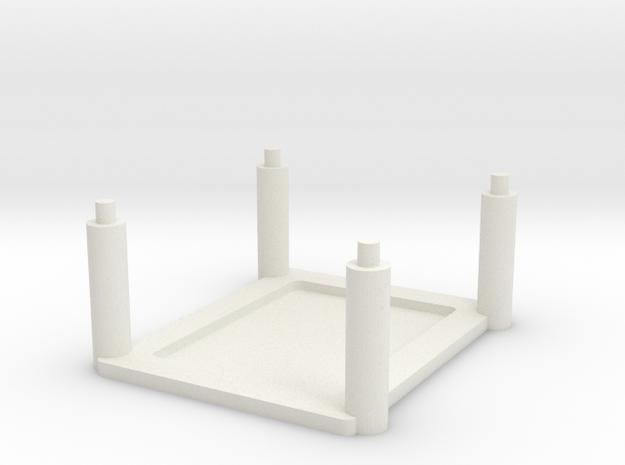 Arduino Uno Rack in White Natural Versatile Plastic