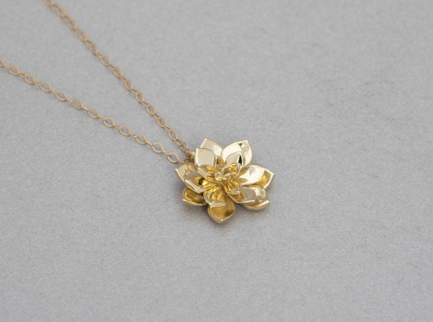 Succulent Pendant in Polished Brass