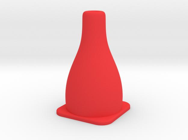 Tiny Traffic Cone in Red Processed Versatile Plastic