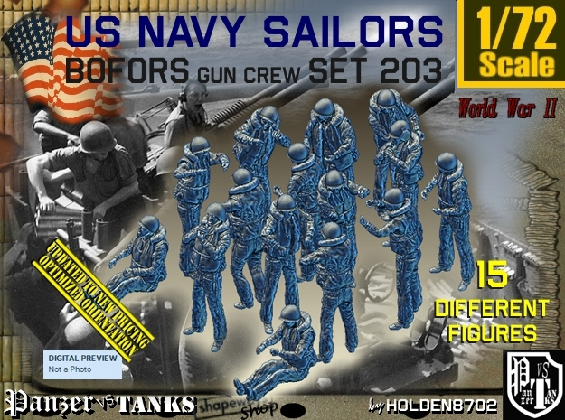 1/72 USN Bofors Set 203 in Frosted Ultra Detail