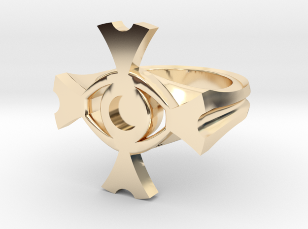 Ceridenkreuz ring in 14k Gold Plated Brass: 5.5 / 50.25