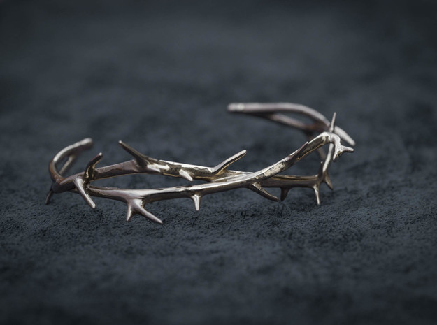 Thorn Bracelet in Polished Brass