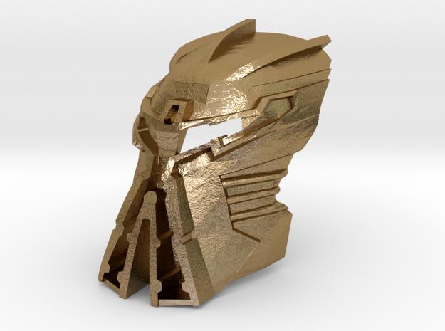Kanohi Ignika V2  in Polished Gold Steel