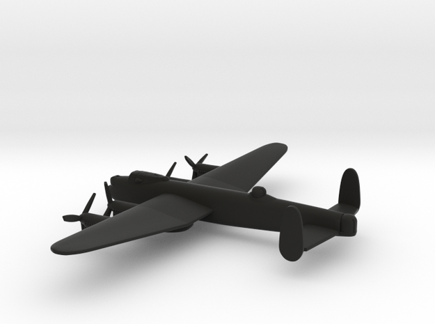Avro Lancaster (w/o landing gears) in Black Natural Versatile Plastic: 1:350