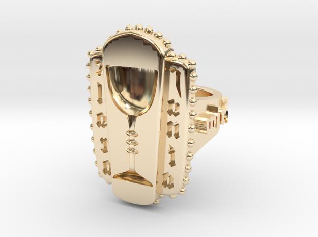 Santa Clara signet ring in 14k Gold Plated Brass