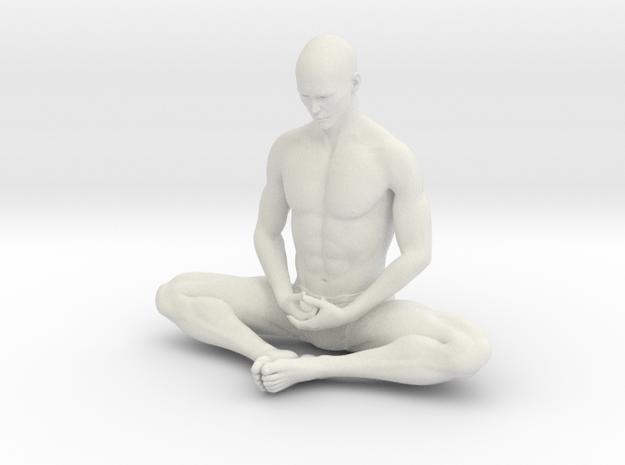 Male yoga pose 012 in White Natural Versatile Plastic: 1:10