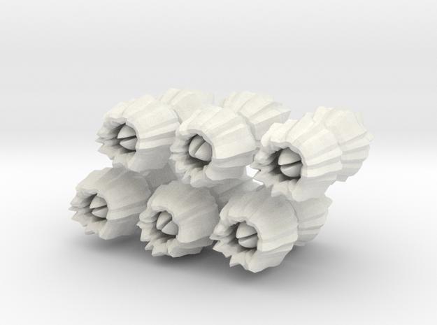 Barnacles, large, set of 12 in White Natural Versatile Plastic