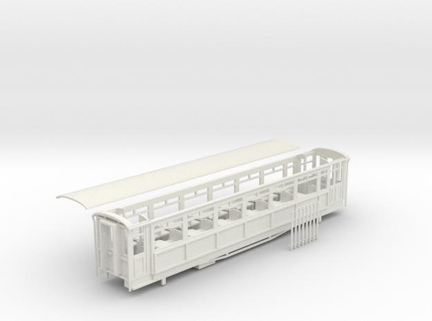 Ffestiniog Rly Superbarn all 3rd coach NO.117,8,20 in White Natural Versatile Plastic