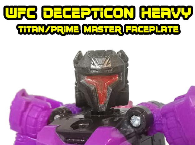 WFC Decepticon Heavy/Brute Face (Titans Return) in Smooth Fine Detail Plastic
