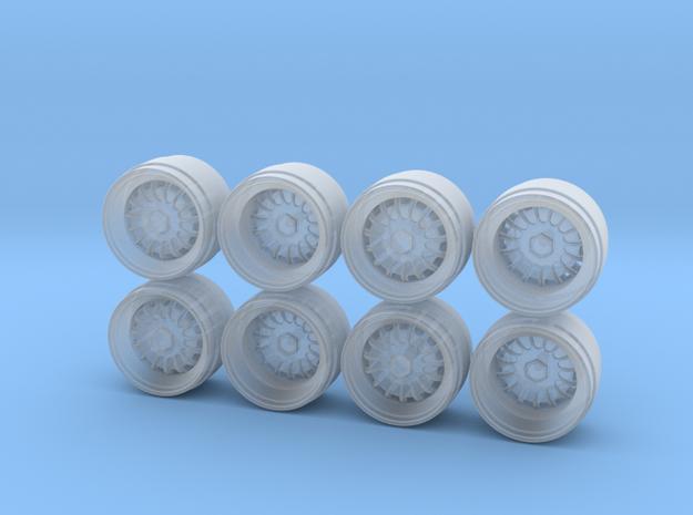 Miura SVR Hot Wheels Rims in Smoothest Fine Detail Plastic