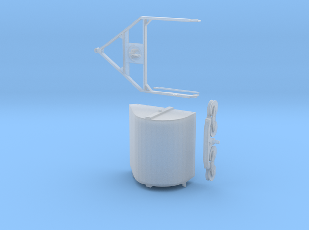 S Scale Aerial Tram Bucket Assembly in Smooth Fine Detail Plastic