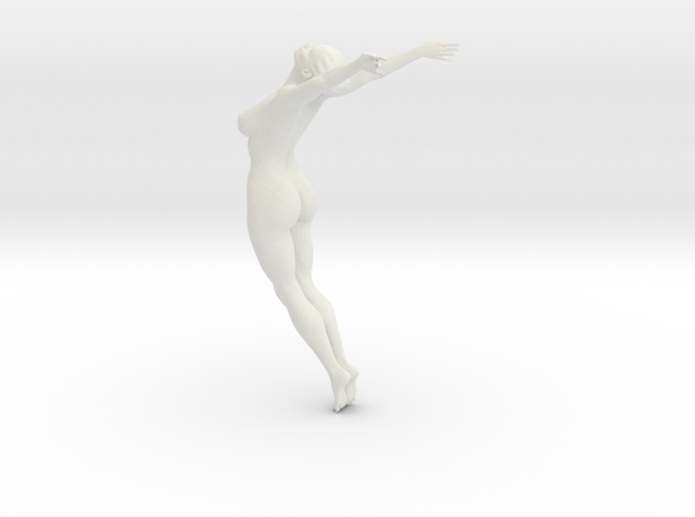 Female yoga pose 003 in White Natural Versatile Plastic: 1:10