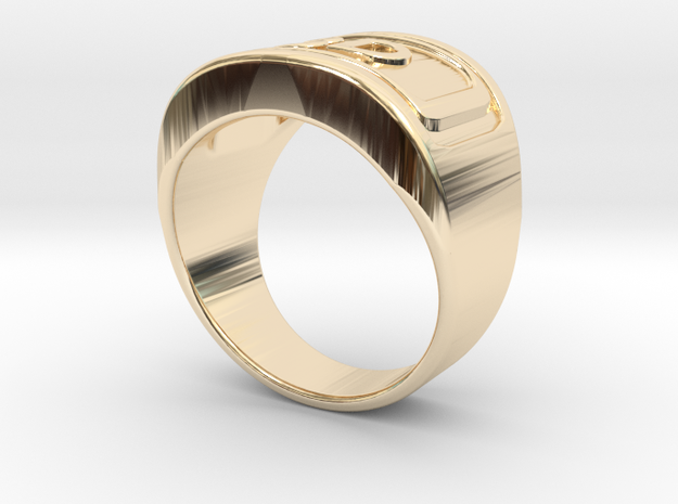 Gold Ring 3D  in 14k Gold Plated: 8 / 56.75