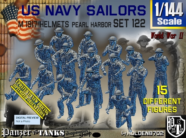 1/144 USN Pearl Harbor Set 122 in Frosted Ultra Detail