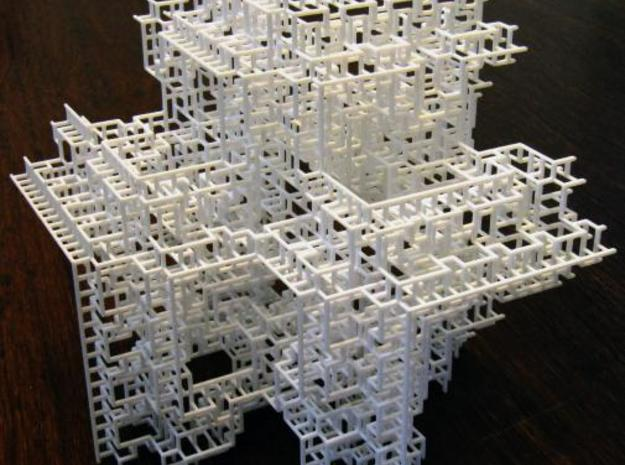 Fractal Graph 3 in White Natural Versatile Plastic