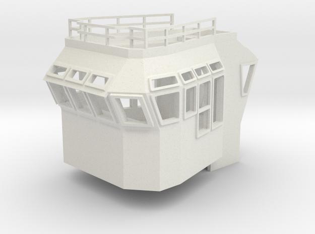 Bridge Superstructure 1/87 H0 fits Harbor Tug in White Natural Versatile Plastic