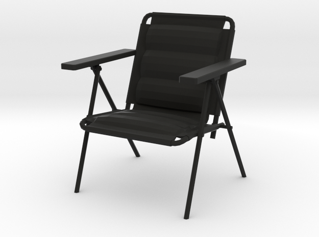 'Patio Paradise' Lawn Chair 1:12 Dollhouse in Black Strong & Flexible