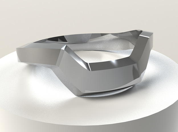 Mech Ring in Polished Silver: 5.5 / 50.25
