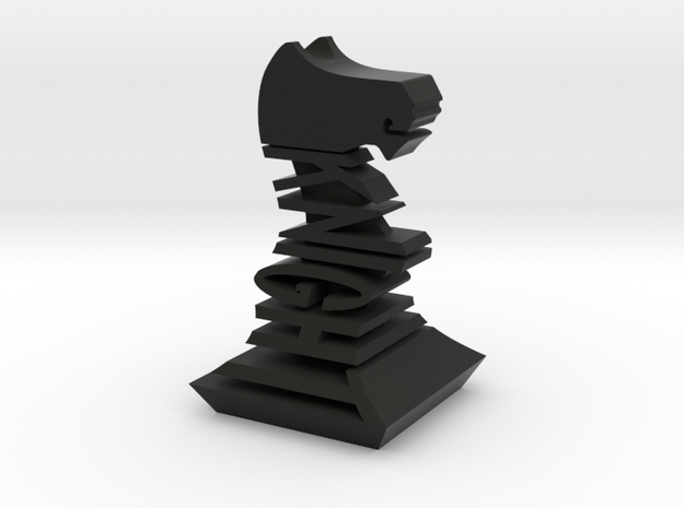 Modern Chess Set - KNIGHT in Black Strong & Flexible