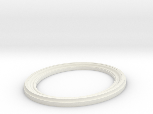 Oval Frame in White Natural Versatile Plastic