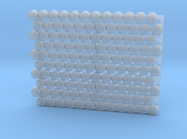 3205 - 1/32 '+' type padeyes, closed bottom, 120pc in Smooth Fine Detail Plastic