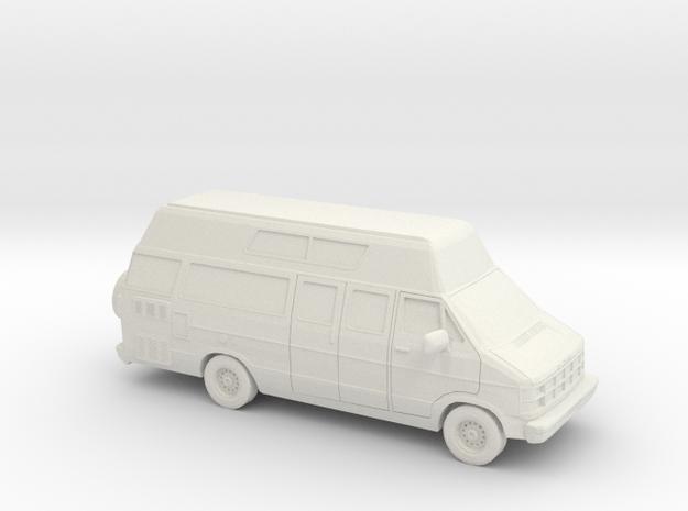 10 cm 1986-93 Dodge Ram Custom Van  in White Natural Versatile Plastic